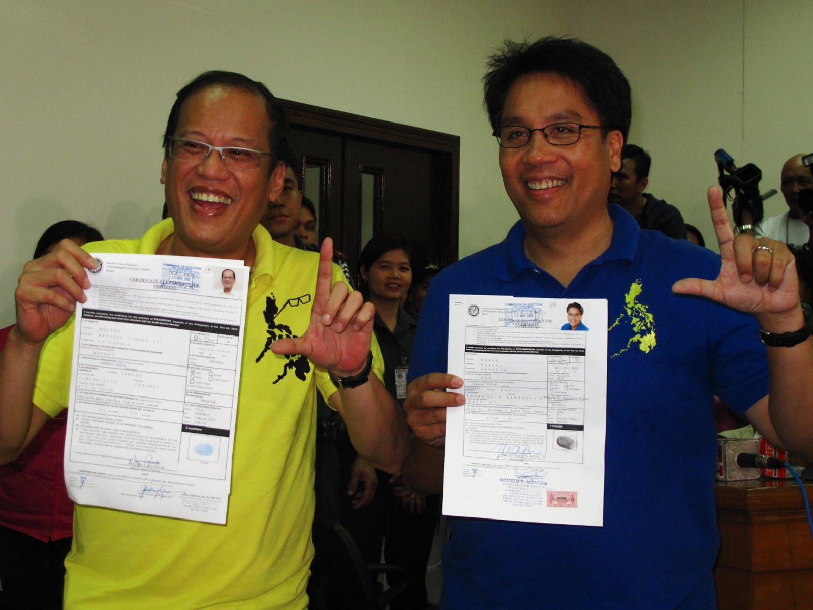 Noynoy Aquino files Certificate of Candidacy